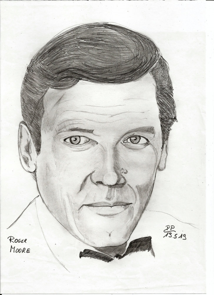 Roger Moore by Patoux